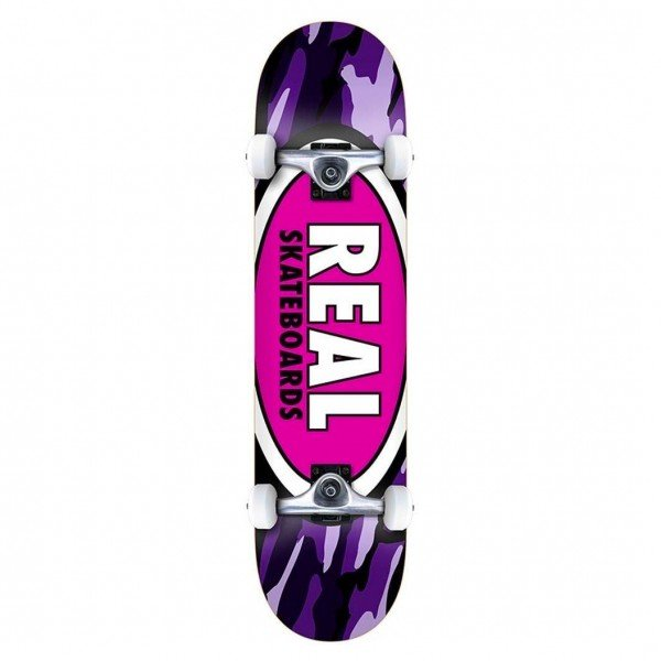 "Real Team Oval Camo LG Complete Skateboard 8.0"" (Multi)"