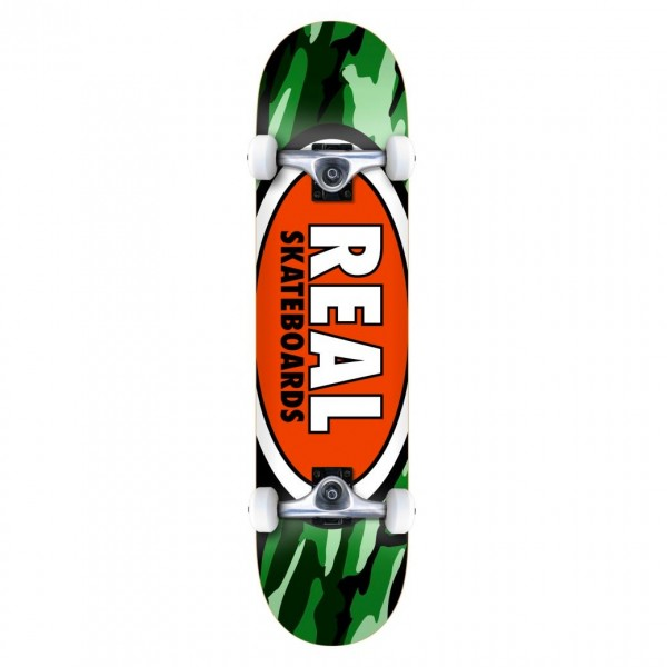 "Real Team Oval Camo MD Complete Skateboard 7.75"" (Multi)"