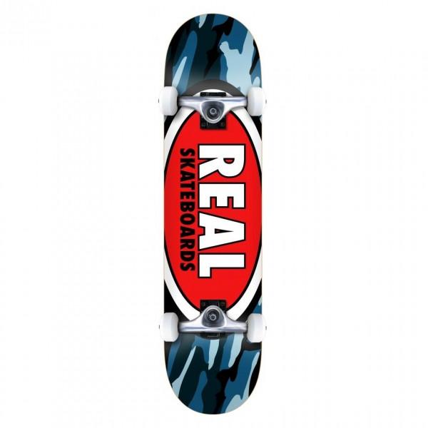 "Real Team Oval Camo Mini Complete Skateboard 7.3"" (Multi)"