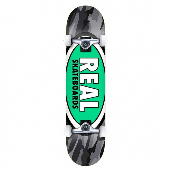 "Real Team Oval Camo XL Complete Skateboard 8.25"" (Multi)"
