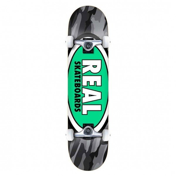 "Real Team Oval Camo XL Complete Skateboard 8.25"" (Multi)"