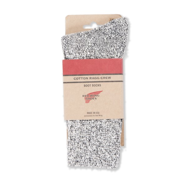 Red Wing Cotton Ragg Socks (Black/White)
