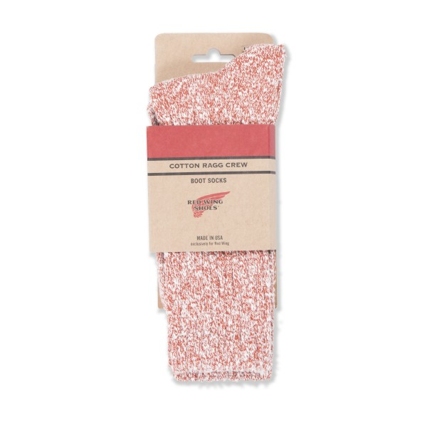 Red Wing Cotton Ragg Socks (Rust/White)