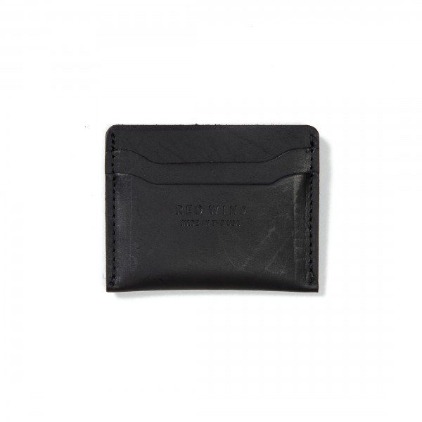 Red Wing Credit Card Holder (Black Frontier Leather)