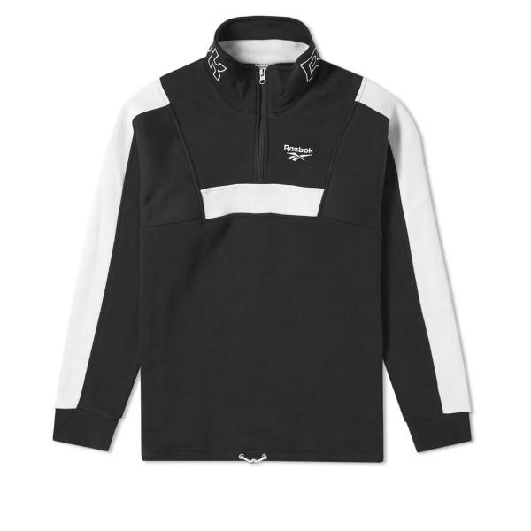 Reebok LF Quarter Zip Fleece Sweatshirt (Black)