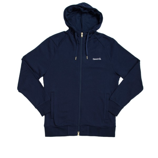 Reebok x The Good Company Full-Zip Hooded Sweatshirt (Collegiate Navy)