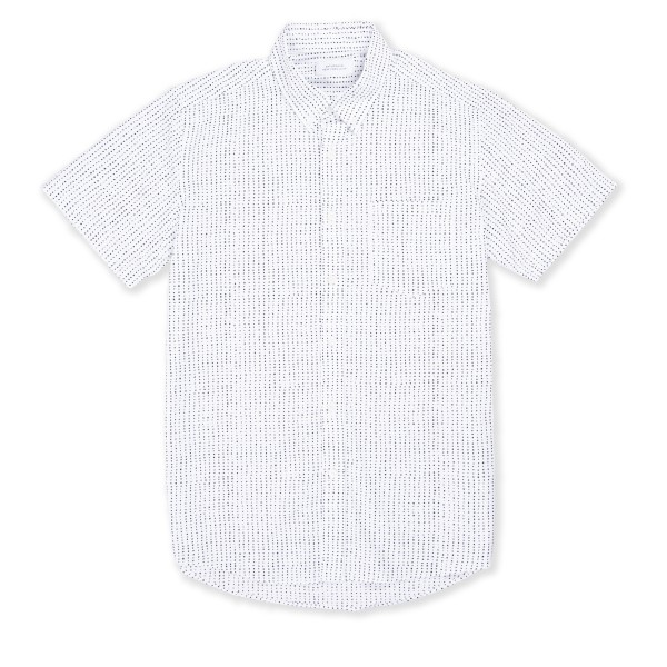 Saturday's Surf NYC Esquina Stipple Print Shirt (White)