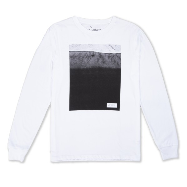 Saturday's Surf NYC Ground Wave Long Sleeve T-Shirt (White)