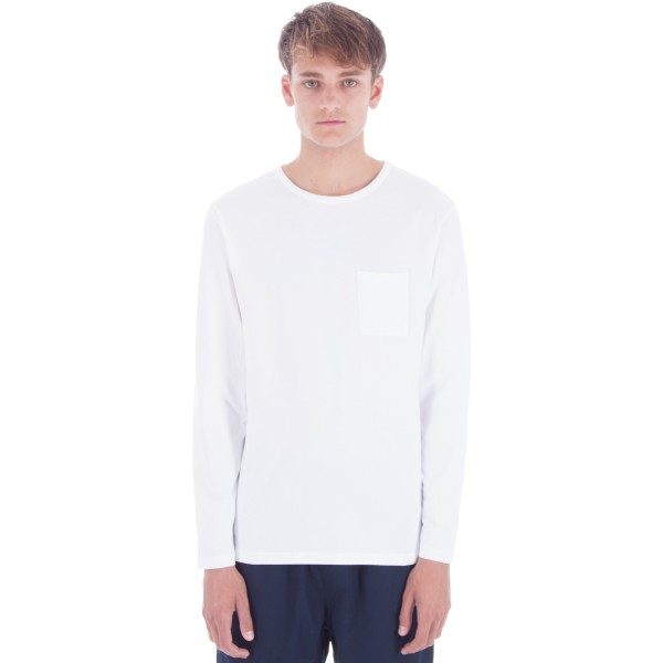 Saturday's Surf NYC James Solid Long Sleeve T-Shirt (White)