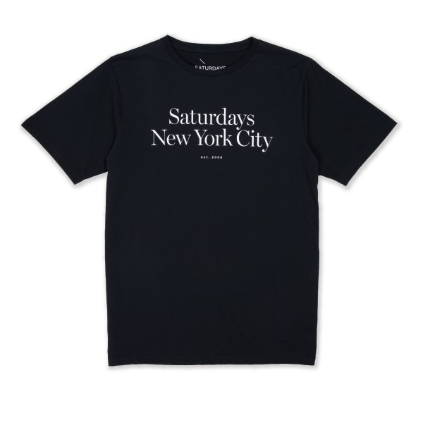 Saturday's Surf NYC Miller Standard T-Shirt (Black)