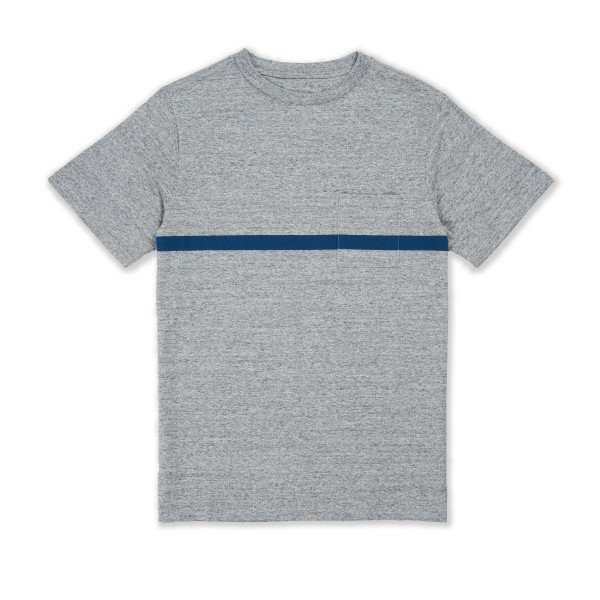 Saturday's Surf NYC Randall Chest Stripe T-Shirt (Ash Heather)