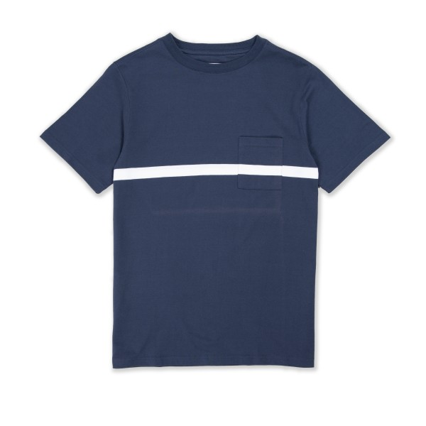Saturday's Surf NYC Randall Chest Stripe T-Shirt (Navy)