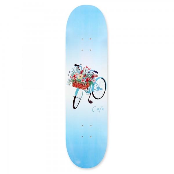 "Skateboard Café Flower Basket Skateboard Deck 8.125"" (Blue)"