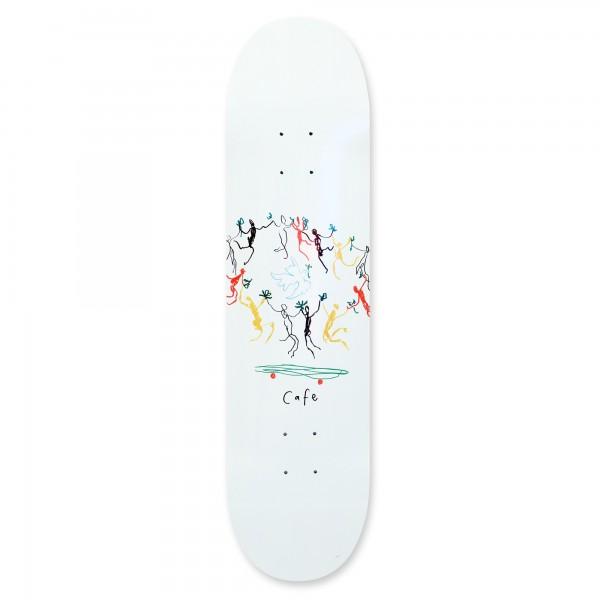 "Skateboard Café Peace Skateboard Deck 8.0"" (White)"