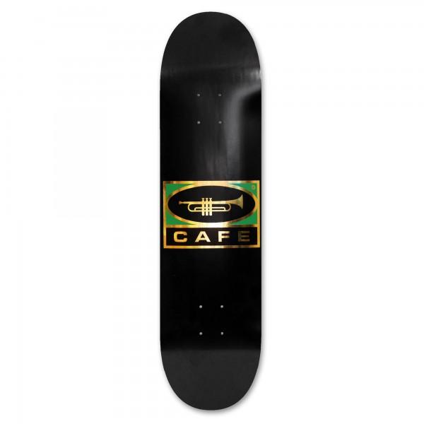 "Skateboard Café Trumpet Logo Skateboard Deck 8.0"" (Black/Gold)"