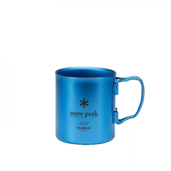 Snow Peak Titanium Double Wall 450 Mug (Blue)