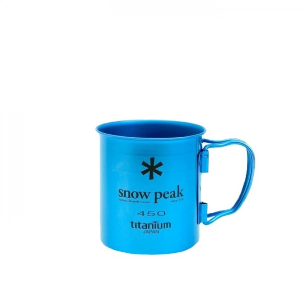 Snow Peak Titanium Single Wall 450 Mug (Blue)
