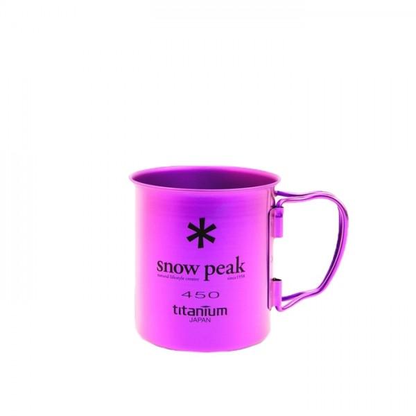 Snow Peak Titanium Single Wall 450 Mug (Purple)