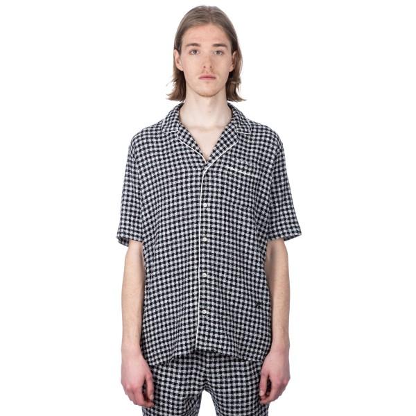 Soulland Brandt Bowling Shirt (Black/White)