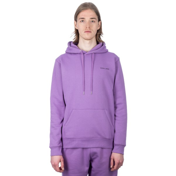 Soulland Wallance Pullover Hooded Sweatshirt (Violet)