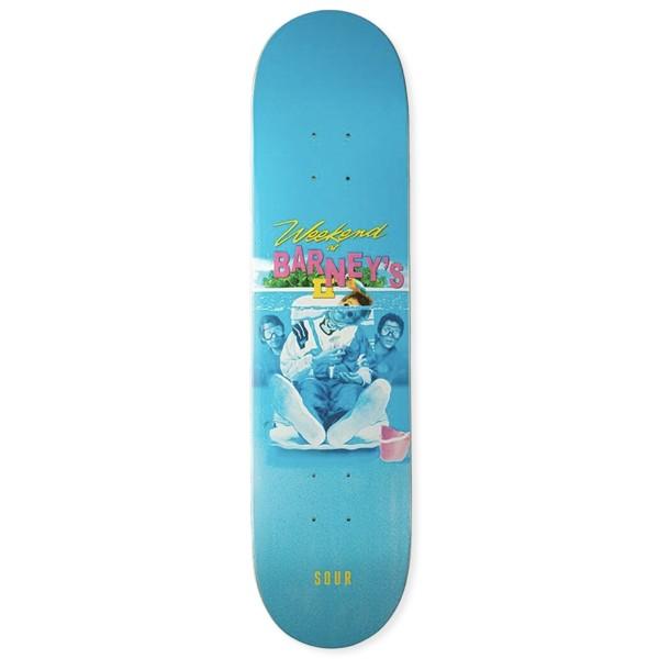 "Sour Solution Barney Weekend At Skateboard Deck 7.75"""