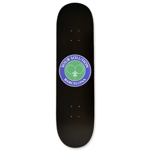 "Sour Solution Social Club Skateboard Deck 8.125"" (Black)"