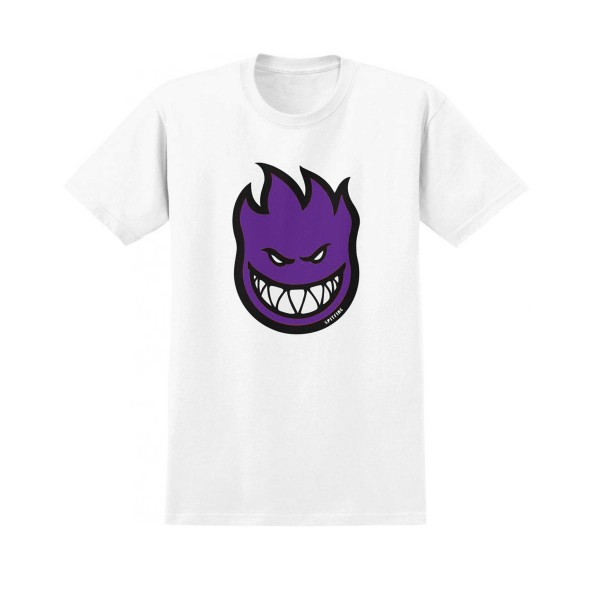 Spitfire Bighead Fill T-Shirt (White/Purple)