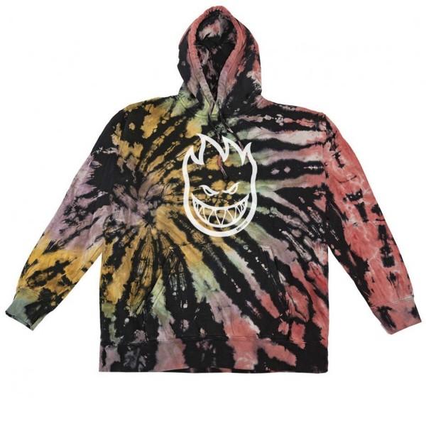 Spitfire Bighead Pullover Hooded Sweatshirt (Rainbow Overdye Wash/White)