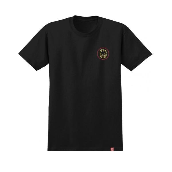 Spitfire Classic Swirl Fade T-Shirt (Black/Yellow/Red)