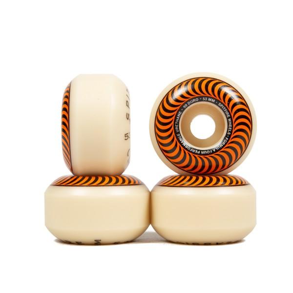 Spitfire Formula Four Classics 99DU Skateboard Wheels 53mm (Orange)