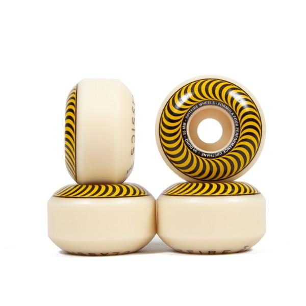 Spitfire Formula Four Classics 99DU Skateboard Wheels 55mm (Yellow)