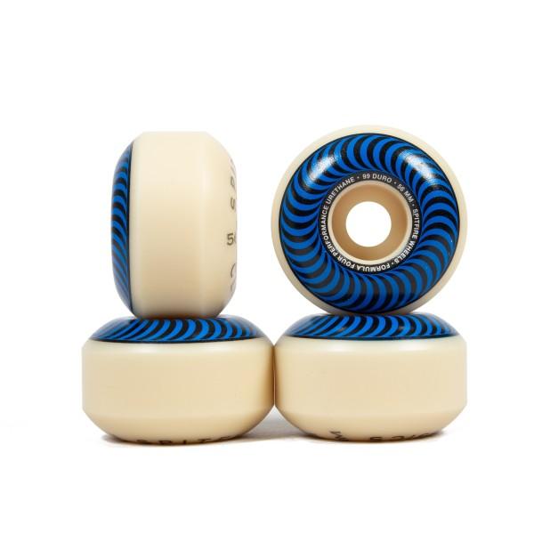 Spitfire Formula Four Classics 99DU Skateboard Wheels 56mm (Blue)