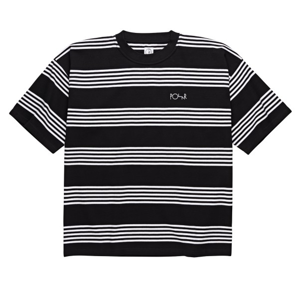 Polar Skate Co. Striped Surf T-Shirt (Black/White)