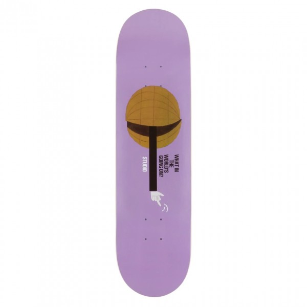 "Studio Skateboards What In The World Skateboard Deck 8.0"""