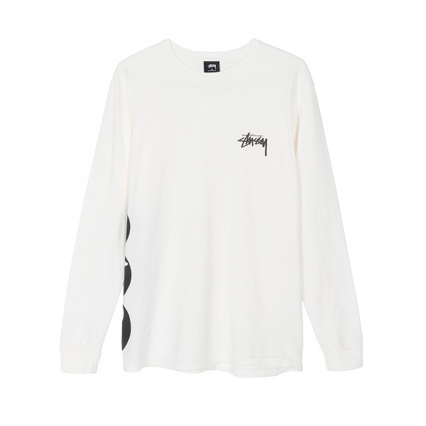 Stussy 8 Ball Stack Pigment Dyed Long Sleeve T-Shirt (Natural)