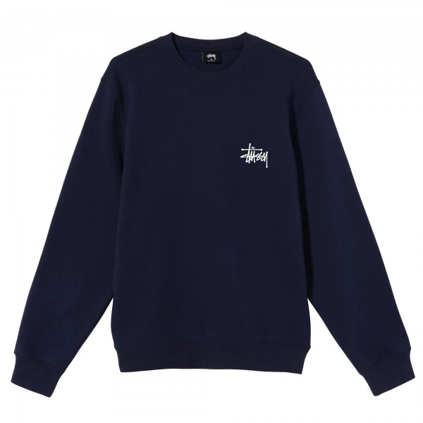Stussy Basic Crew Neck Sweatshirt (Navy)