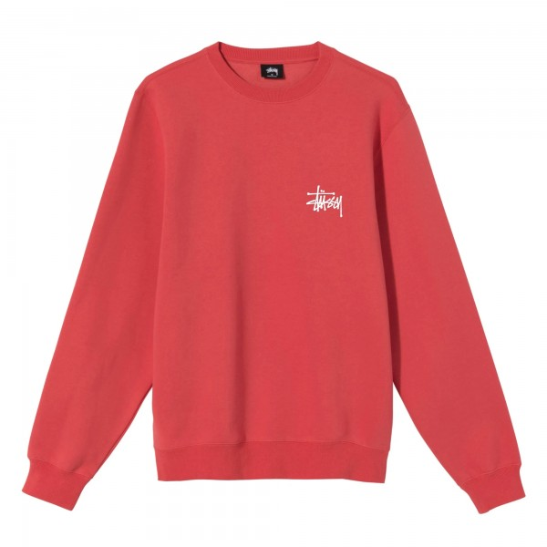 Stussy Basic Crew Neck Sweatshirt (Red)