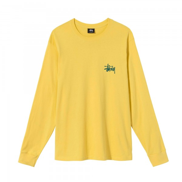 Stussy Basic Long Sleeve T-Shirt (Lemon)