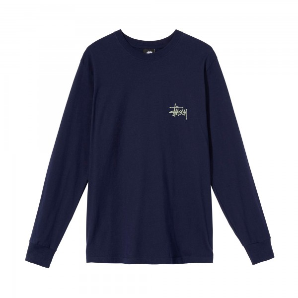 Stussy Basic Long Sleeve T-Shirt (Navy)