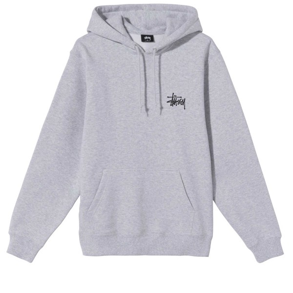 Stussy Basic Pullover Hooded Sweatshirt (Ash Heather)