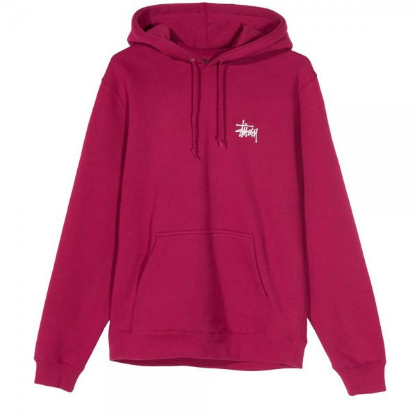 Stussy Basic Pullover Hooded Sweatshirt (Wine)