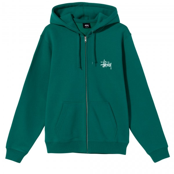 Stussy Basic Stüssy Zip Hooded Sweatshirt (Green)