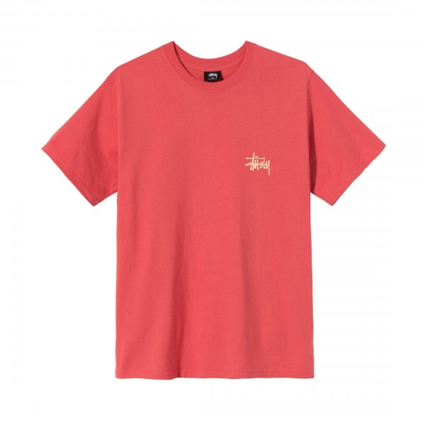 Stussy Basic T-Shirt (Pale Red)