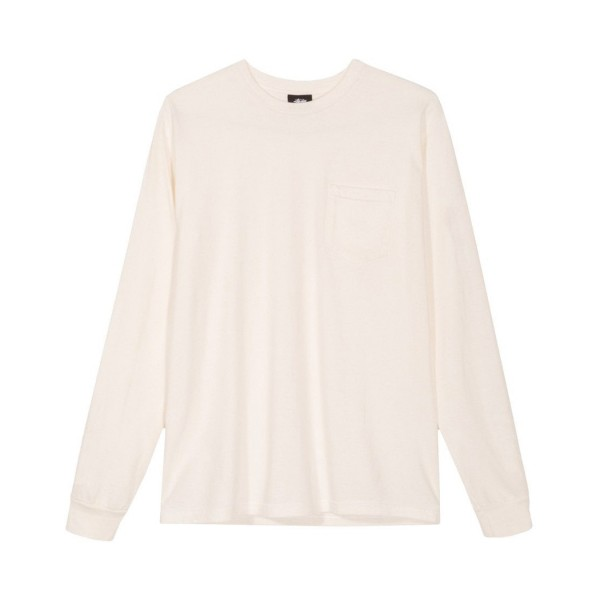 Stussy Camo Stock Pigment Dyed Long Sleeve T-Shirt (Natural)