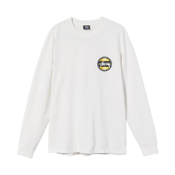 Stussy Classic Dot Pigment Dyed Long Sleeve T-Shirt (Natural)