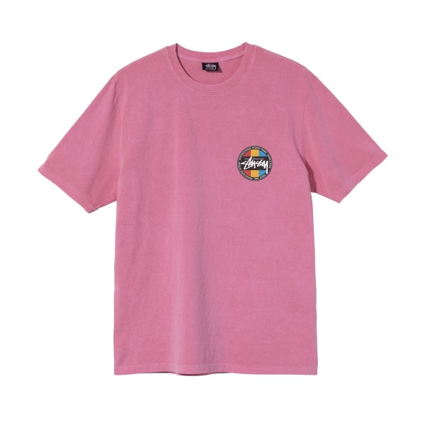 Stussy Classic Dot Pigment Dyed T-Shirt (Pink)