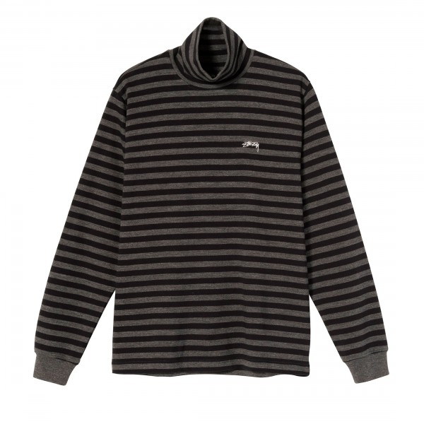 Stussy Classic Stripe Long Sleeve Turtleneck (Black)