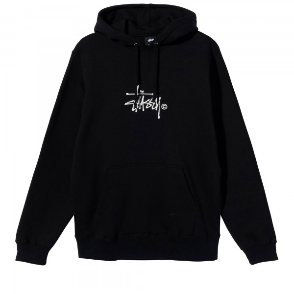 Stussy Copyright Stock Logo Applique Pullover Hooded Sweatshirt (Black)