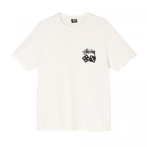 Stussy Dice Pigment Dyed T-Shirt (Natural)