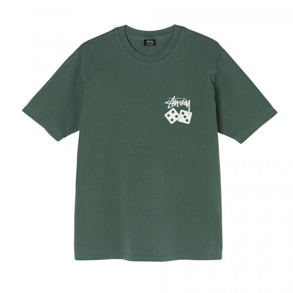 Stussy Dice Pigment Dyed T-Shirt (Pine)
